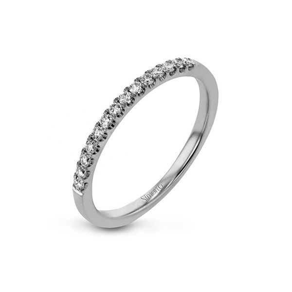 Straight line Simon G diamond wedding band. Holliday Jewelry Klamath Falls, OR