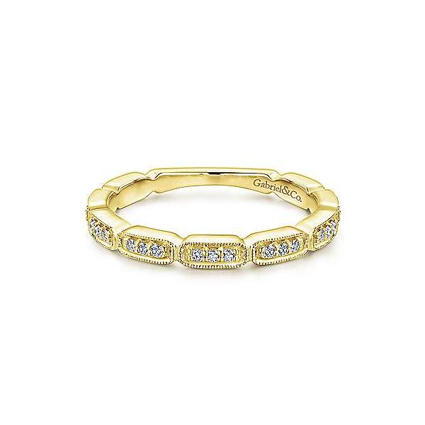 Segmented diamond band by Gabriel & Co. Holliday Jewelry Klamath Falls, OR