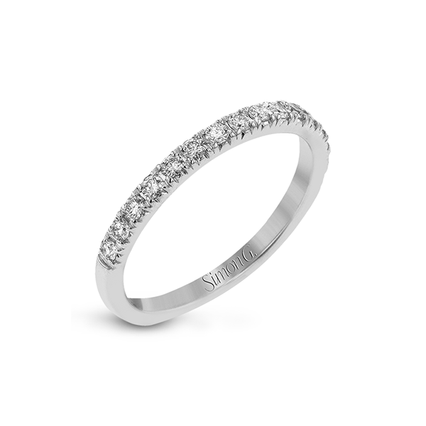 Simon G 18 karat diamond band. Holliday Jewelry Klamath Falls, OR