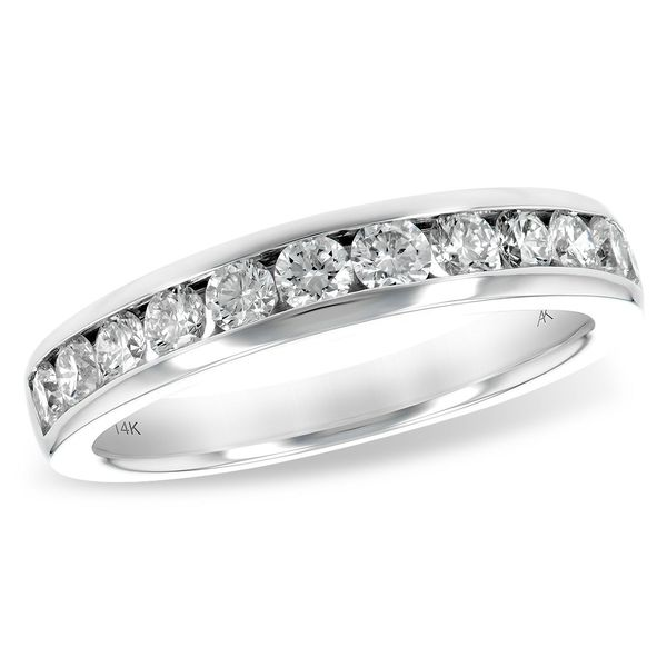 Allison Kaufman traditional 14 karat white gold and diamond ring Holliday Jewelry Klamath Falls, OR