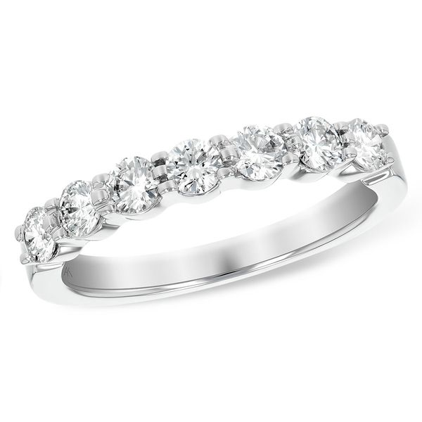 Allison Kaufman 14 karat white gold and diamond band Holliday Jewelry Klamath Falls, OR