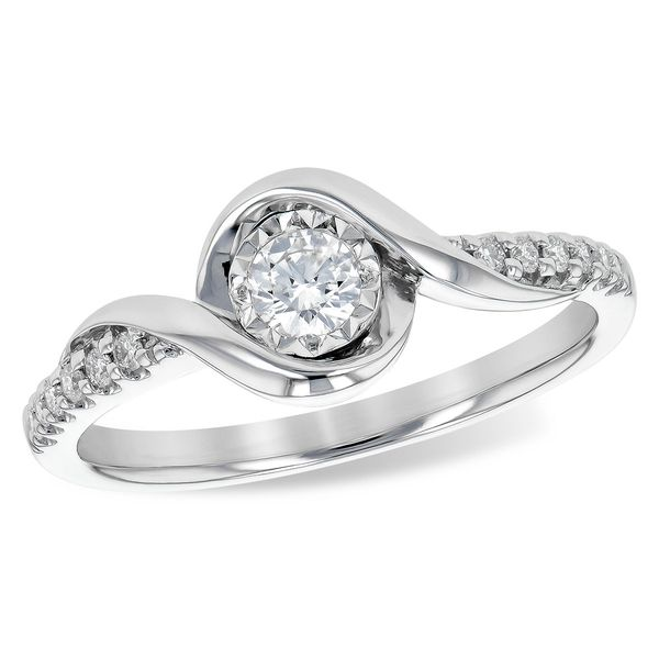 Allison Kaufman twist desing diamond ring. Holliday Jewelry Klamath Falls, OR