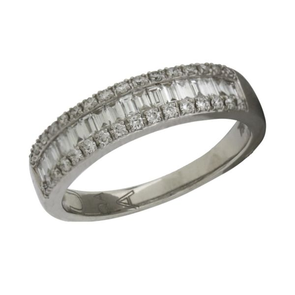 Baguette and round diamond band. Holliday Jewelry Klamath Falls, OR
