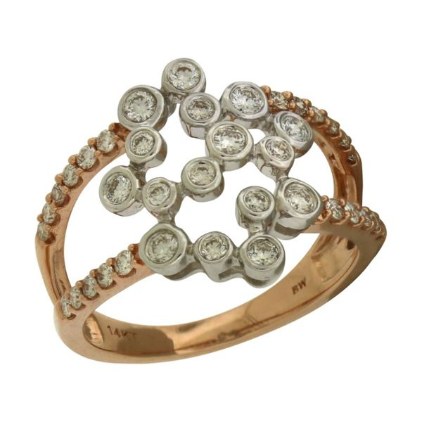 Playful cluster diamond ring. Holliday Jewelry Klamath Falls, OR