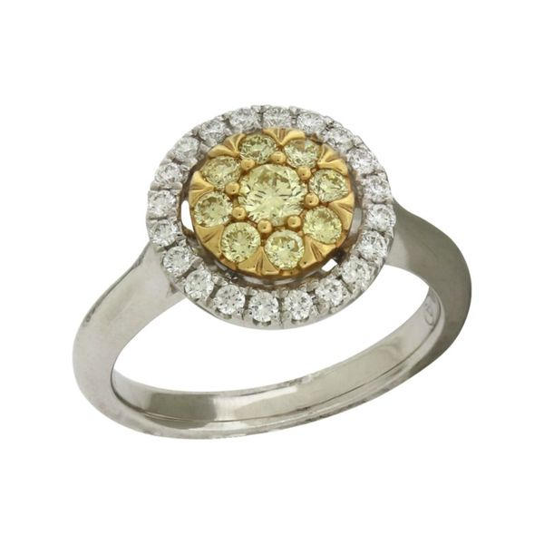 Yellow and white diamond ring. Holliday Jewelry Klamath Falls, OR