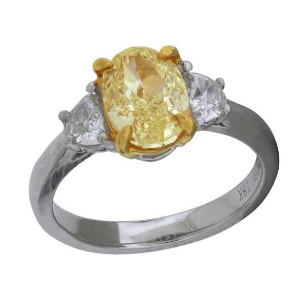Stunning yellow diamond ring. GIA Cert. Holliday Jewelry Klamath Falls, OR