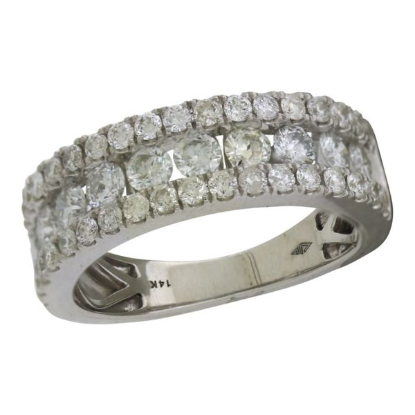 Gorgeous 3 row diamond band. Holliday Jewelry Klamath Falls, OR