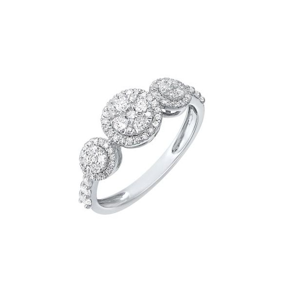 Three stone cluster diamond ring. Holliday Jewelry Klamath Falls, OR