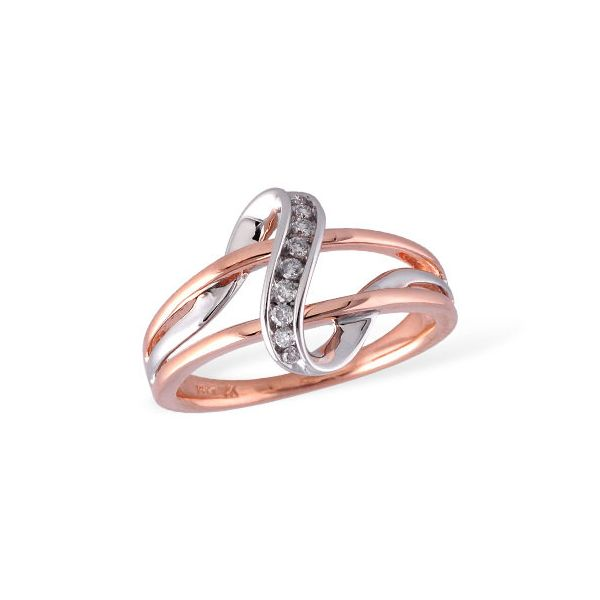 Free form rose and white gold diamond ring. Holliday Jewelry Klamath Falls, OR