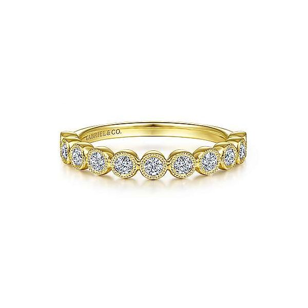 Beautiful miligrain detail Gabriel & Co. diamond band. Holliday Jewelry Klamath Falls, OR