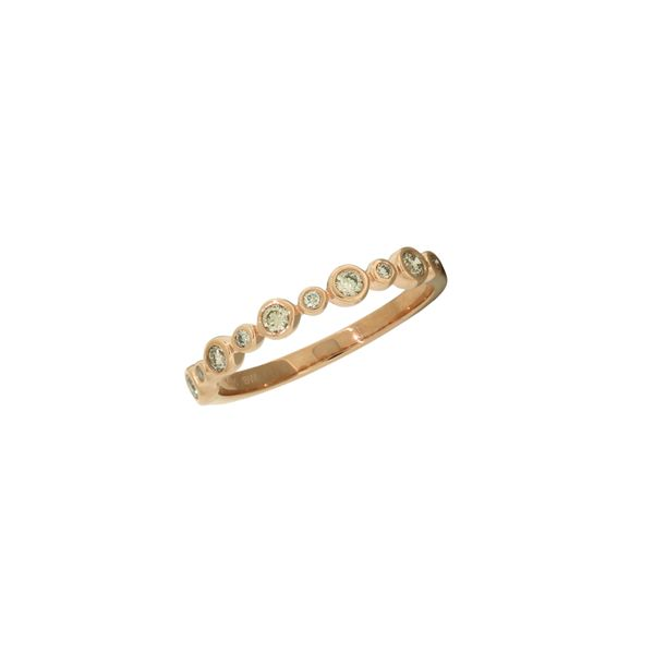 Diamond stackable band in rose gold. Holliday Jewelry Klamath Falls, OR