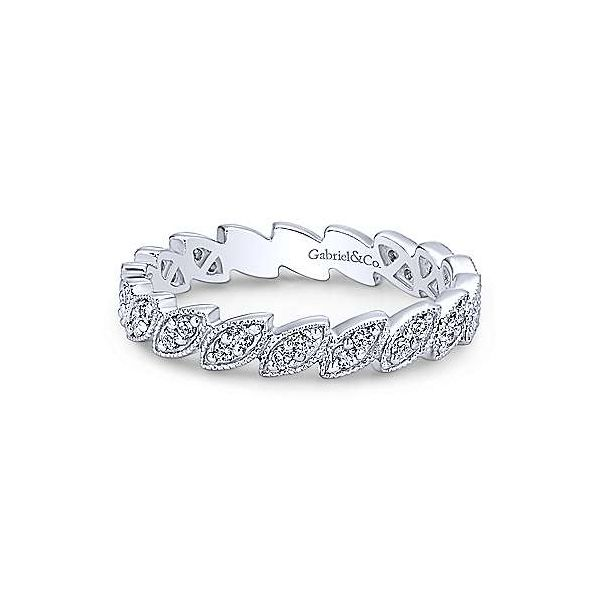 Gabriel & Co. diamond stackable band. Holliday Jewelry Klamath Falls, OR