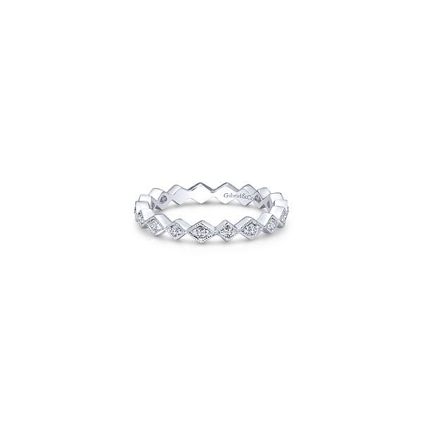 Geometric diamond stackable band. Holliday Jewelry Klamath Falls, OR