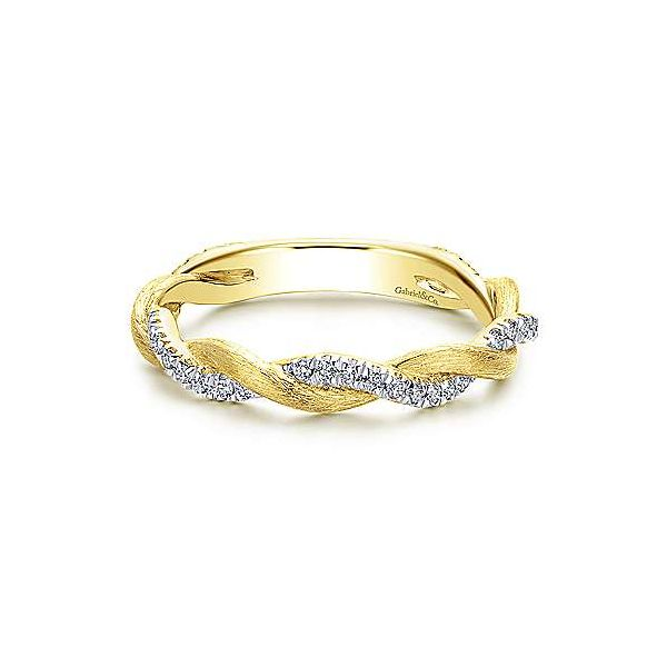 Gabriel NY diamond twisted band. Holliday Jewelry Klamath Falls, OR