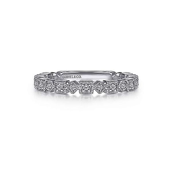 Geometric shape stackable diamond band. Holliday Jewelry Klamath Falls, OR
