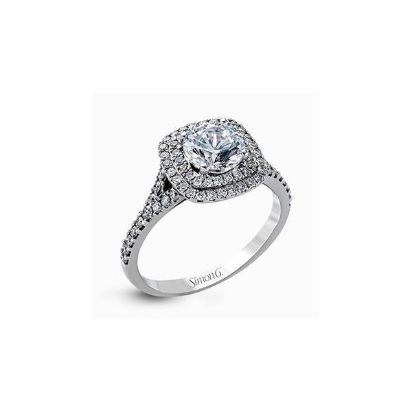 Simon G 18 karat diamond ring. *center not included. Holliday Jewelry Klamath Falls, OR