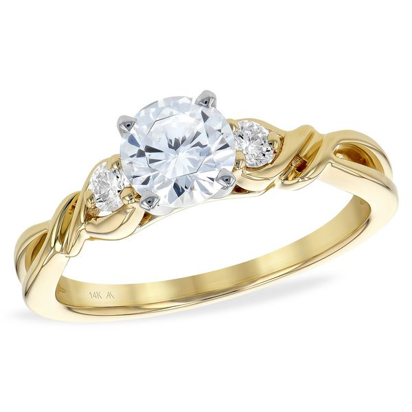 Allison Kaufman three stone engagement ring. *center not included. Holliday Jewelry Klamath Falls, OR