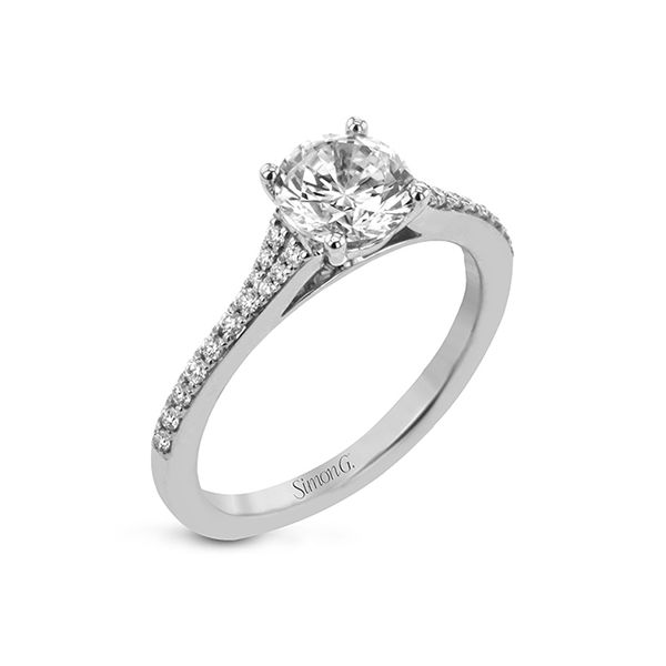 Simon G straight line diamond ring. *Center not included. Holliday Jewelry Klamath Falls, OR