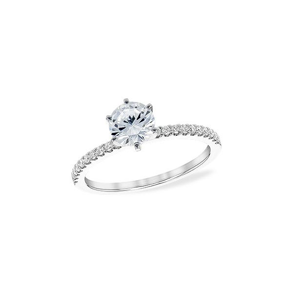 Allison Kaufman straight line diamond engagement ring. *center not included. Holliday Jewelry Klamath Falls, OR