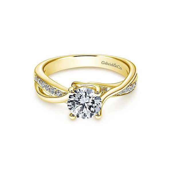 Gabriel & Co. diamond engagement ring. *Center not included. Holliday Jewelry Klamath Falls, OR