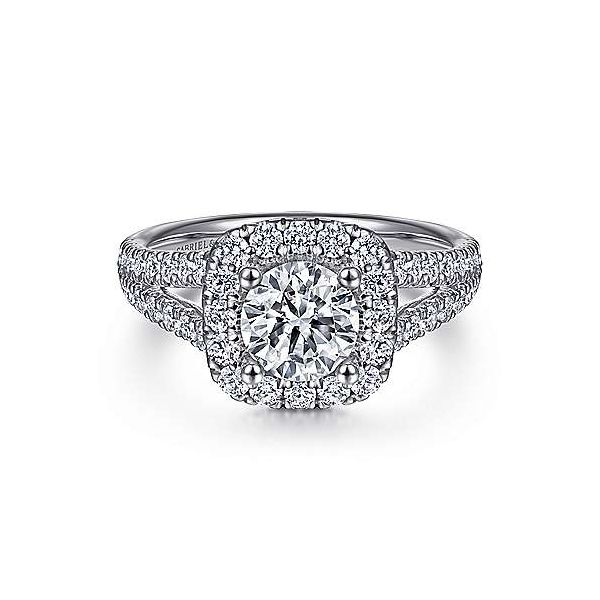 Stunning Gabriel & Co diamond engagement ring. *Center not included. Holliday Jewelry Klamath Falls, OR