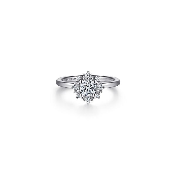 Halo diamond ring by Gabriel & Co. *Center not included. Holliday Jewelry Klamath Falls, OR