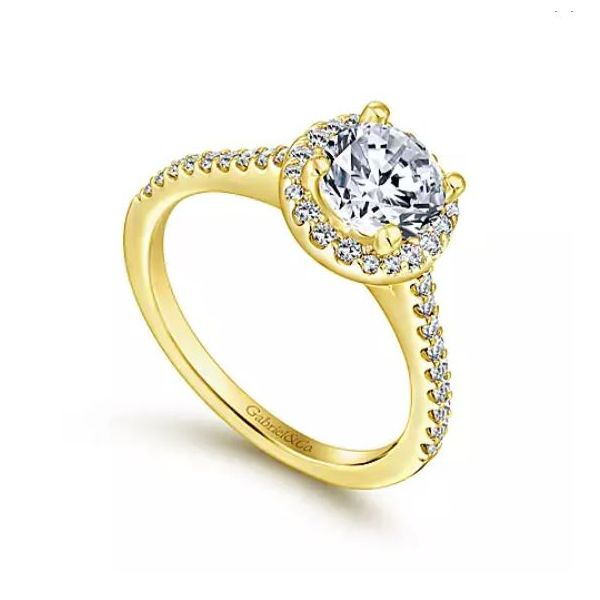 Gabriel & Co. diamond ring featured in yellow gold. *Center not included. Holliday Jewelry Klamath Falls, OR