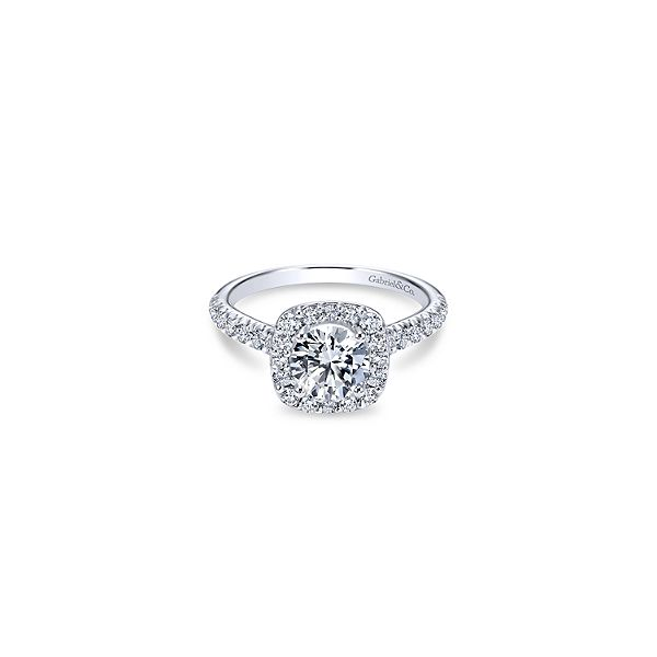 Gabriel & Co. halo design diamond ring. *Center not included. Holliday Jewelry Klamath Falls, OR