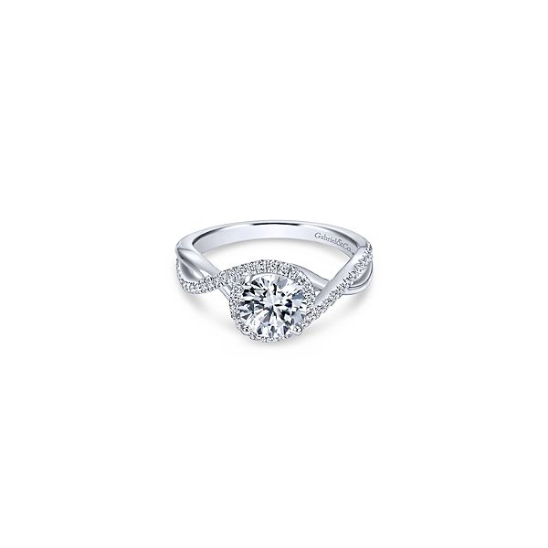 Diamond by-pass design ring by Gabriel & Co. *Center not included. Holliday Jewelry Klamath Falls, OR