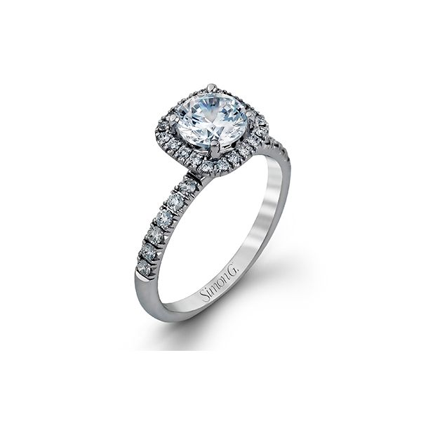Simon G classic halo diamond ring. *center not included. Holliday Jewelry Klamath Falls, OR