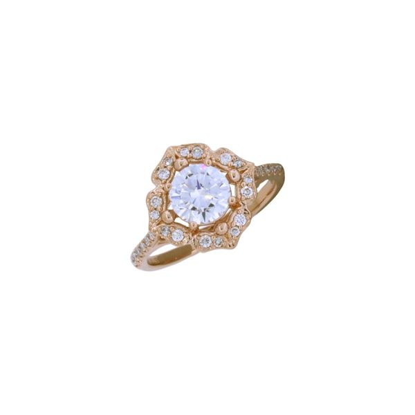 Gorgeous vintage inspired rose gold diamond ring. *Center not included. Holliday Jewelry Klamath Falls, OR