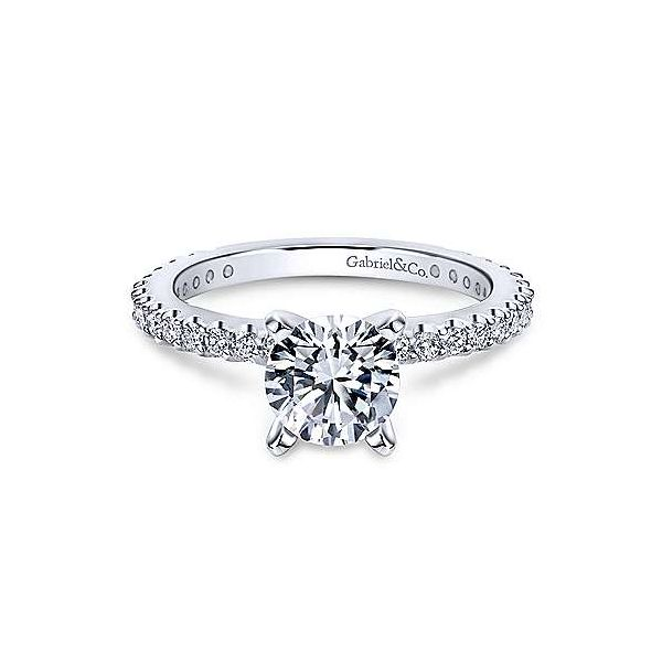 Stunning Gabriel & Co. diamond engagement ring. *Center not included. Holliday Jewelry Klamath Falls, OR