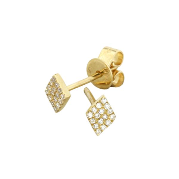 Diamond Shape Diamond Earrings Holliday Jewelry Klamath Falls, OR