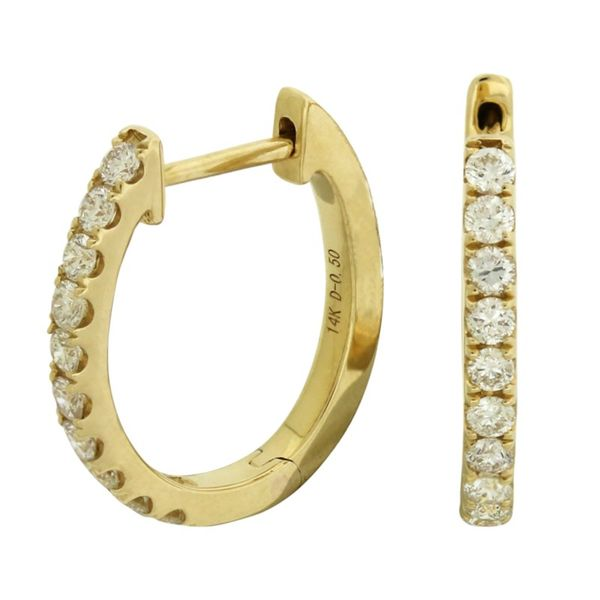 Diamond Hoop Earrings Holliday Jewelry Klamath Falls, OR