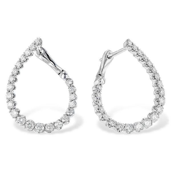 Allison Kaufman 14 karat diamond hoop earrings Holliday Jewelry Klamath Falls, OR