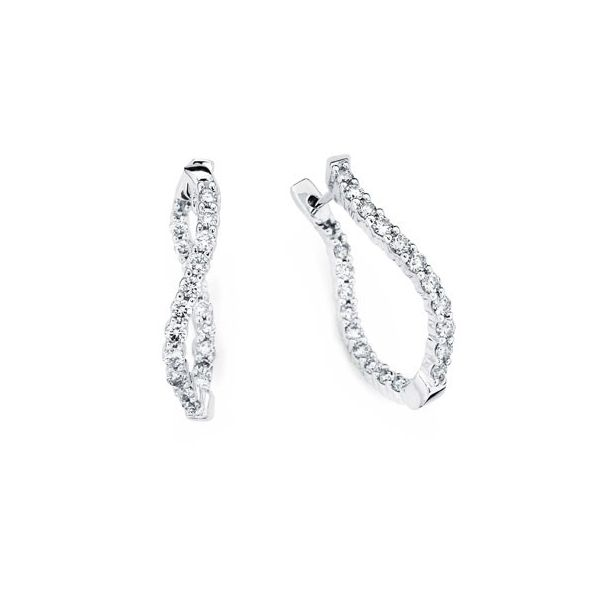 Gorgeous twisted inside out diamond hoop earrings. Holliday Jewelry Klamath Falls, OR
