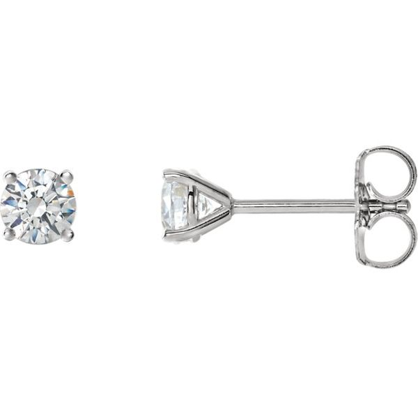 1 carat solitaire diamond earrings. Holliday Jewelry Klamath Falls, OR