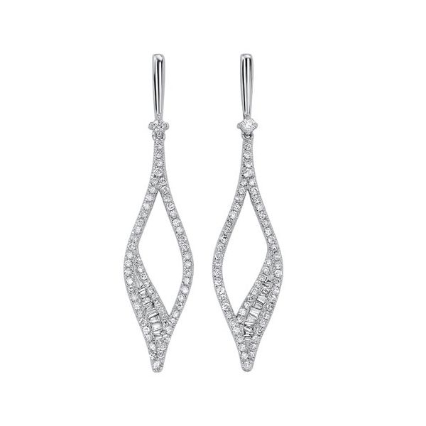 Gorgeous drop style diamond earrings. Holliday Jewelry Klamath Falls, OR