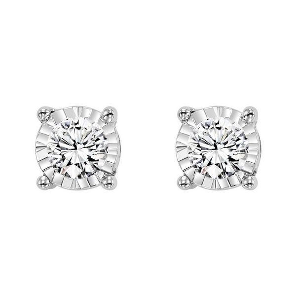 Solitaire diamond earrings, 1.50 carat total weight. Holliday Jewelry Klamath Falls, OR