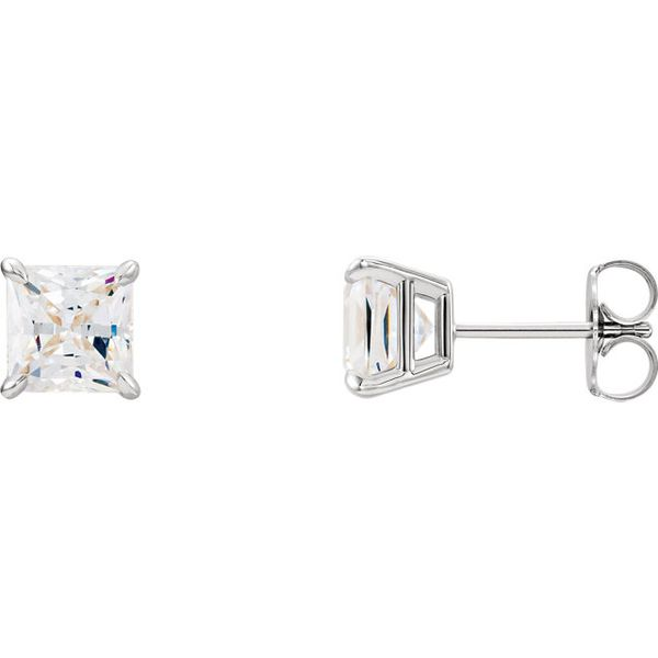 Princess Cut Diamond Stud Earrings Holliday Jewelry Klamath Falls, OR