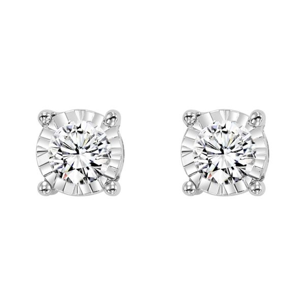 True Reflections solitaire diamond earrings. Holliday Jewelry Klamath Falls, OR
