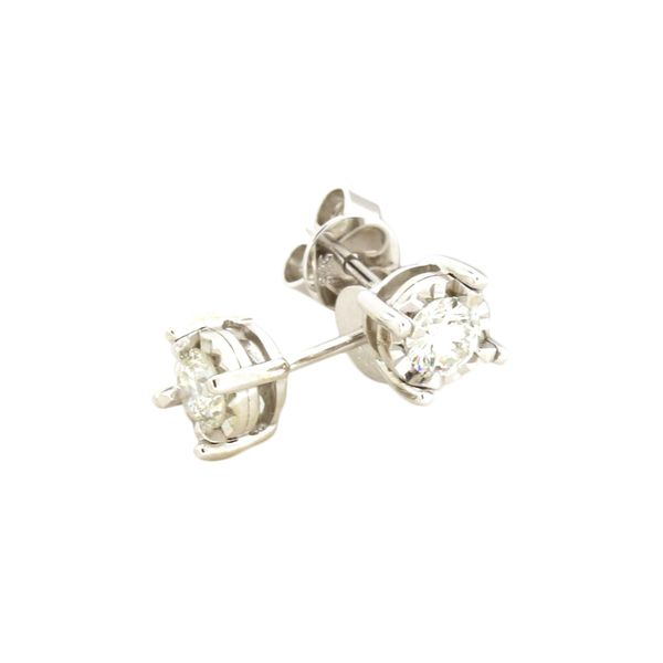 Solitaire diamond earrings. Holliday Jewelry Klamath Falls, OR