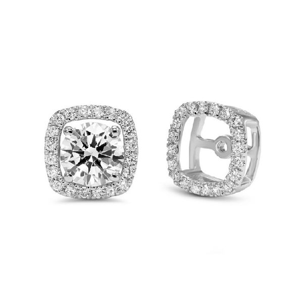 Cushion shaped earring jackets. Holliday Jewelry Klamath Falls, OR