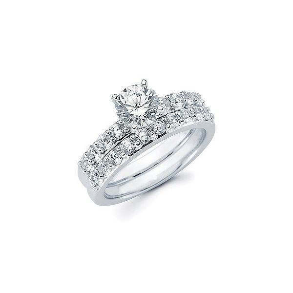 Traditional diamond wedding set. *Center not included. Holliday Jewelry Klamath Falls, OR