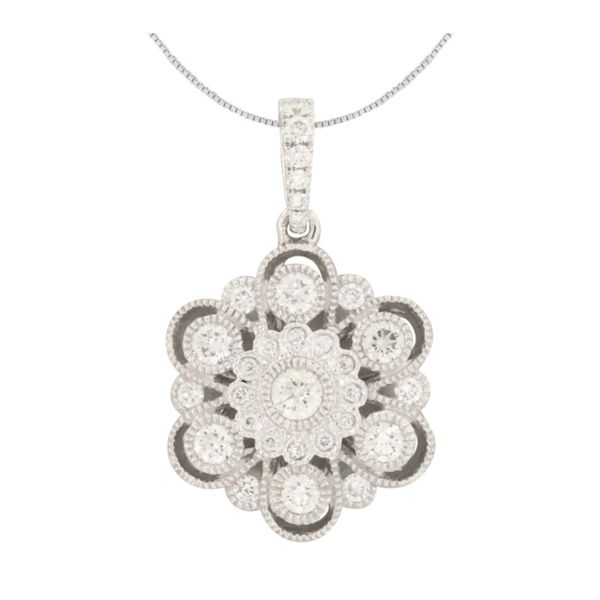 Vintage style Cherie Dori diamond pendant. Holliday Jewelry Klamath Falls, OR