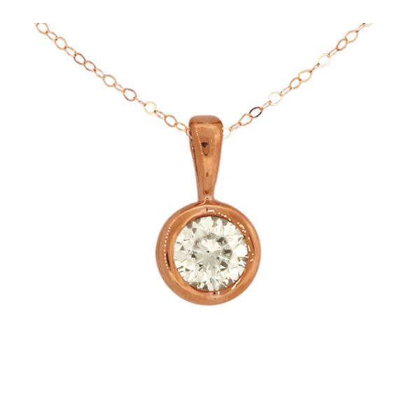 Beautiful solitaire diamond pendant. Holliday Jewelry Klamath Falls, OR