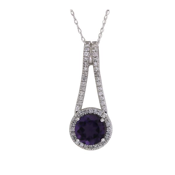 Amethyst and diamond pendant. Holliday Jewelry Klamath Falls, OR