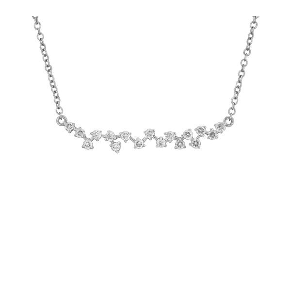 Delicate diamond bar necklace. Holliday Jewelry Klamath Falls, OR