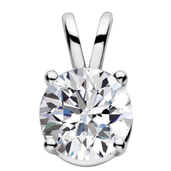 I Love You Inscribed Solitaire Diamond Pendant Holliday Jewelry Klamath Falls, OR