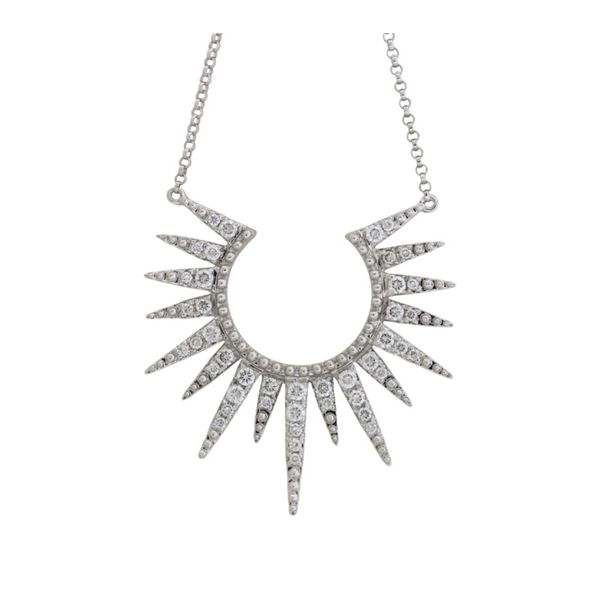 Modern Cherie Dori diamond sunbusrt necklace Holliday Jewelry Klamath Falls, OR